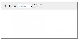 リッチテキストエディタの画面